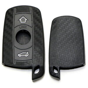 Carbon Fiber Pattern Soft Silicone Key Fob Cover For Bmw First Gen Keyless Fob