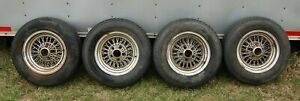 14 X 7 Wire Spoked Wheels With Dunlop Tires 1980s Mercedes Benz 450sl