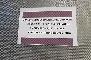 1 4 Holes 20 Ga 304 Stainless Steel Perforated Sheet 6 X 23 1 2