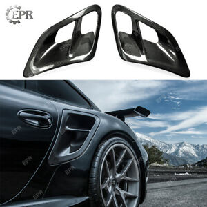 For Porsche 07 10 997 Turbo Gt2 Turbo Side Air Vent Intake Scoops Carbon Fiber