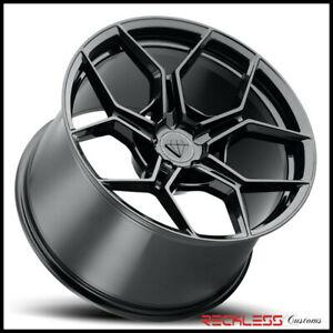 Blaque Diamond 22 Bd f25 Black Concave Wheel Rims Fits Dodge Charger Rt Se Srt8