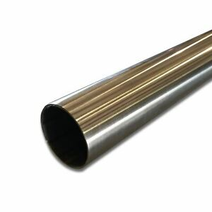 304 Stainless Steel Round Tube 1 1 2 Od X 0 109 Wall X 48 Long Polished