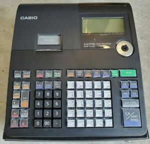 Casio Pcr t470 Electronic Cash Register In Box Power Cable Manual No Key