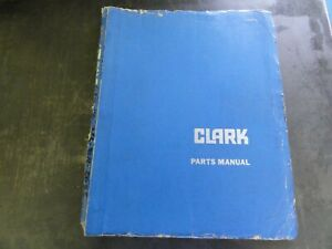 Clark C500 Forklift Parts Catalog Book Manual