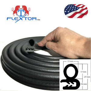 Auto Rubber Seal Weather Strip Door Window Lock Trunk Hood Edge Trim 10ft