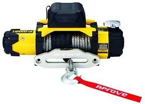 12000 Lb Dual Speed Winch W Synthetic Rope And 2 In 1 Wireless Remote