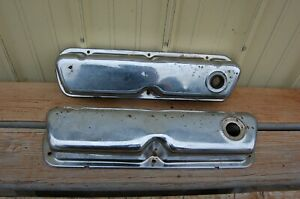 Used Chrome Ford Small Block Valve Covers For 260 289 302 351w 5 0l