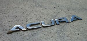 Acura Trunk Emblem Letters Badge Decal Logo Gunmetal Rear Oem Genuine Stock Rsx