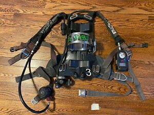 Msa Firehawk 4500psi Cbrn Airpack Scba With Rit for Parts Or Repair