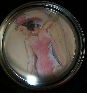 Firefighter In Pink Steering Wheel Spinner Knob Hot Pin Up Girl Suicide Rat Rod