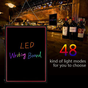 Led Flashing Illuminated Erasable Neon Message Menu Sign Writing Board