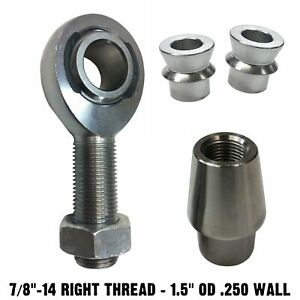Right 7 8 Chromoly Heim Joint Rod End High Angle Spacers 1 5 Od 250 Wall Tube