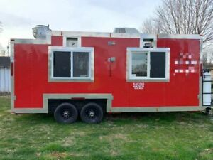 Ready For Business Mobile Kitchen Used Street Food Concession Trailer For Sale
