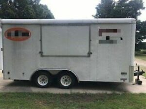 Ready To Convert Used 2005 8 X 16 Food Concession Trailer For Sale In Michigan