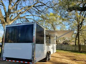 2020 8 5 X 26 Mobile Kitchen Food Concession Trailer W Screened Porch For S