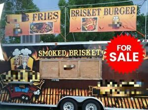Solid 2012 8 X 25 Turnkey Ready Barbecue Concession Trailer With Porch For S