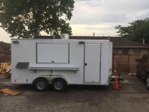 2016 Cargo Mate E series 7 5 X 16 Kitchen Trailer With 2007 Dodge Ram 1500 For