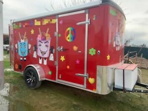 Never Used 2018 6 X 12 Street Food Concession Trailer For Sale In California
