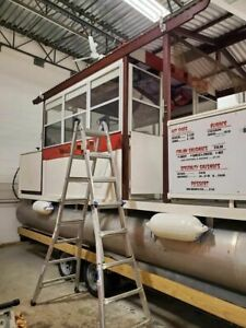 Harris 24 Pontoon Boat Floating Food Truck With For Sale In Massachusetts