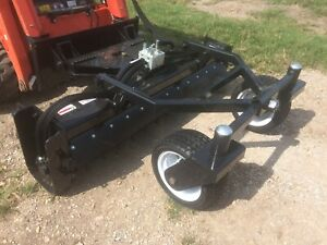 Jenkins Iron 72 Hyd Angle Soil Conditioner Power Rake Skid Steer Attachment