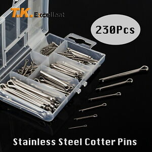 T k excellent 304 Stainless Steel Cotter Pin Assortment Set Value Kit 230 Pcs