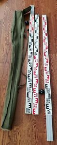 Leica 3 Section Barcode Level Rod Stick Pole 559 And 587 588 589 Survey