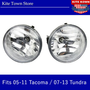 Pair Lh Rh Bumper Fog Light Lamps W Bulbs For 2005 2011 Tacoma 2007 2013 Tundra