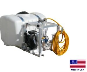 Sprayer Commercial Skid Mounted 6 Gpm 290 Psi 5 Hp 100 Gallon Tank