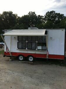 8 X 16 Food Concession Trailer Mobile Kitchen Unit In Great Working Order Fo