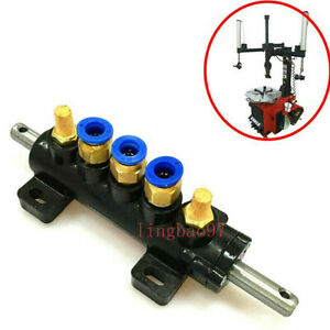 Tyre Tire Changer Parts Air Valve Tire Switch With Metal Silencer Five way Valve