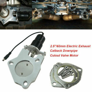 2 5 63mm Electric Exhaust Cutout E cut Out Valve Replacement Control Motor Kit