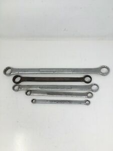 Vintage Lot Of 5 Craftsman Double Boxed End Wrenches 3 8 To 1
