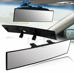 300mm Wide Curve Convex Interior Clip On Panoramic Rear View Mirror Universal 1