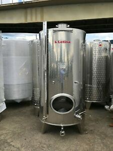 528 Gallon Stainless Steel Jacketed Tank Wine Distillery Brewery