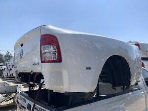 2019 20 Dodge Ram Dually 3500 Pickup Bed Box Truckbed 8ft White