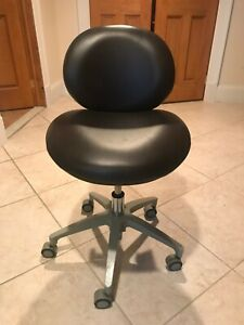 3 Pelton Crane Adjustable Dental Assistant Chairs Gently Used Brown