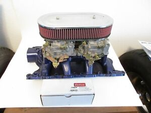 351w Edelbrock Dual 4 With Carbs And Linkage And Air Cleaner
