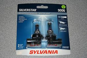 Sylvania Silverstar 9006 Pair Set High Performance Headlight Bulbs New