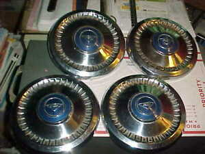 1961 65 Chevy Corvair 9 1 2 Dog Bowl Dish Poverty Hubcap Set Of 4 Nice Caps