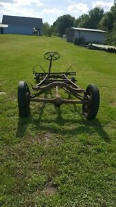 1927 Model A Ford Car Chassis Frame Solid Straight With Rear End Hot Rod