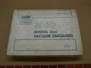 Oem Ford 1968 Wiring Diagram Book Galaxie Fairlane Mustang Falcon Truck Lincoln
