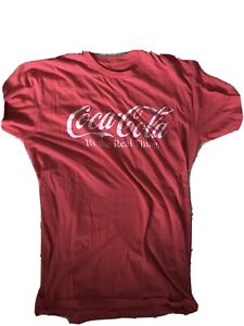 Large Coca Cola Shirt Athletic Fit