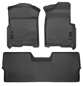 Husky Liners Weatherbeater Floor Mats Black For 2009 14 Ford F 150 Supercrew