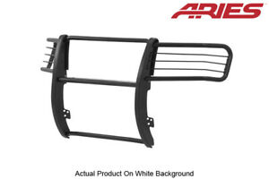 Aries Black Semi gloss Grille brush Guard Front 1pc For 07 13 Gmc Sierra 1500