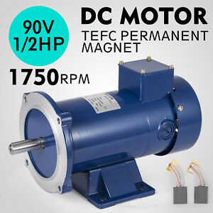 Dc Motor 1 2hp 56c Frame 90v 1750rpm Tefc Magnet 5 0a Grease Continuous Great
