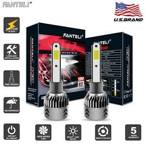 Pair Cree H1 Led Headlight Bulb Kit 3005w 450750lm High Beam Xenon 6000k White