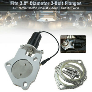 3 0 76mm Electric Exhaust Cutout E Cut Out Valve Replacement Control Motor Kit