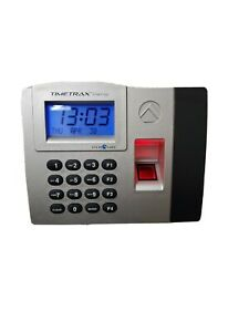 Pyramid Timetrax Elite Fingerprint Time Clock System Silver black