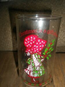 VINTAGE HOLLY HOBBIE-COCA-COLA DRINKING GLASS-COLLECTIBLE-LIMITED EDITION!