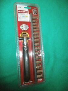 New 17 Pc Craftsman Metric Extendable Wobble Ratchet Set 1 4 3 8 Dr 41677